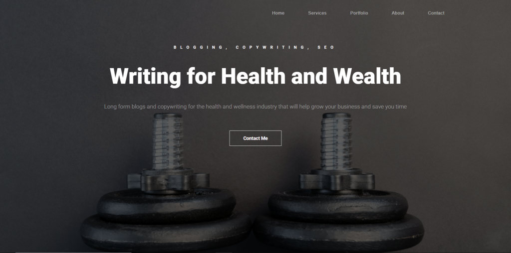 Health Hawk Writing website design from fitfox marketing