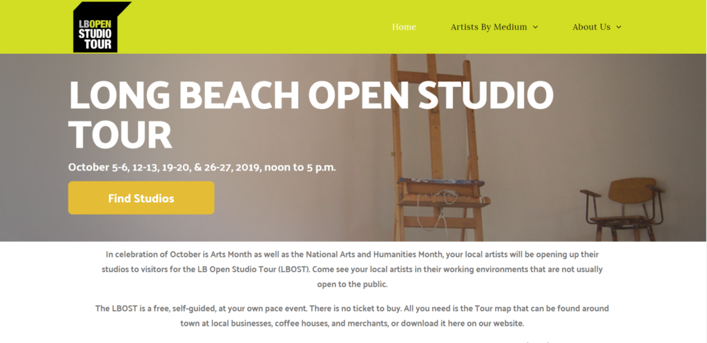 Long Beach open studios fitfox marketing portfolio