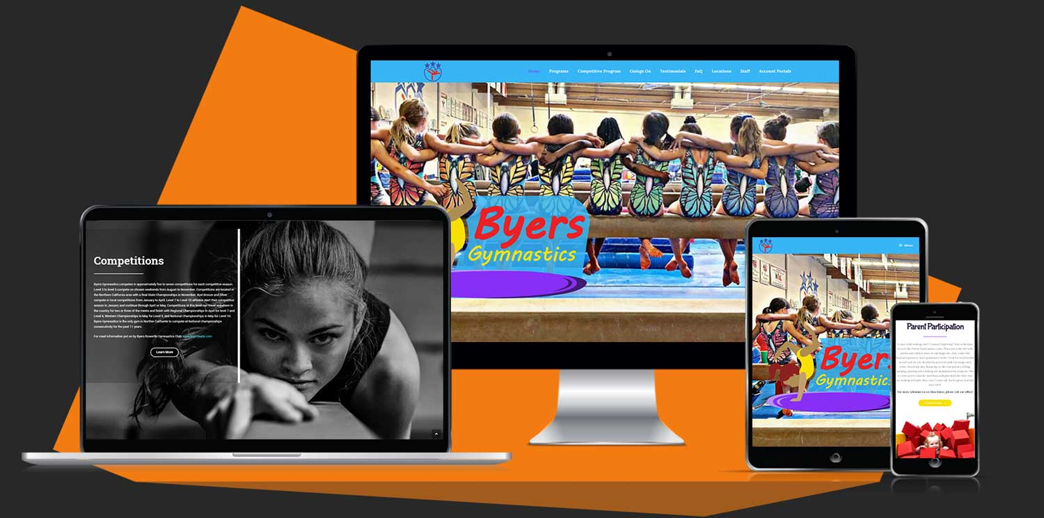 Byers Gymnastics New Website Design Portfolio Fitfox marketing
