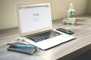 Google My Business how to get your business to rank laptop on table