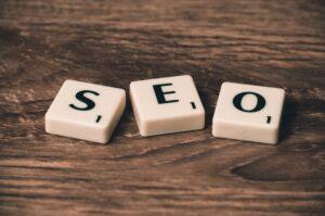 Search engine optimization SEO scrabble tiles