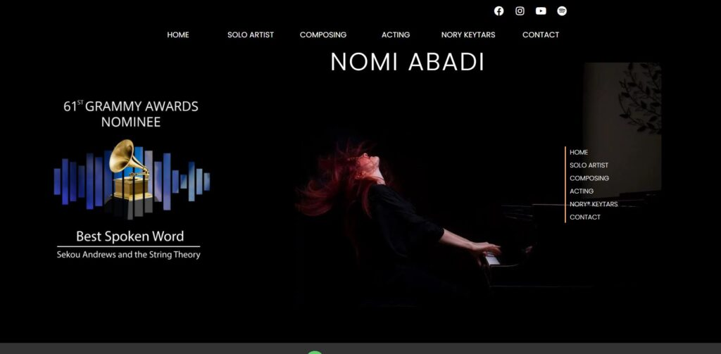 nomi abadi website design portfolio