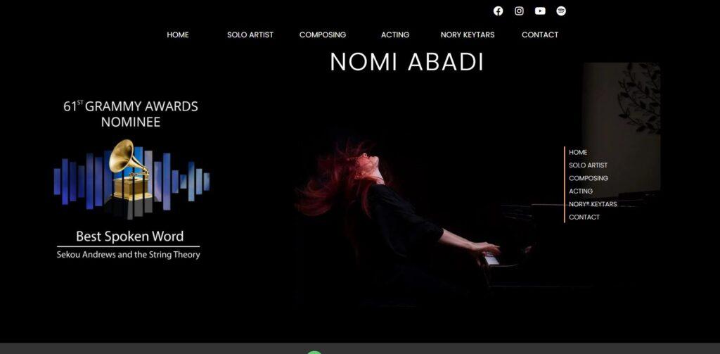 nomi abadi website design portfolio
