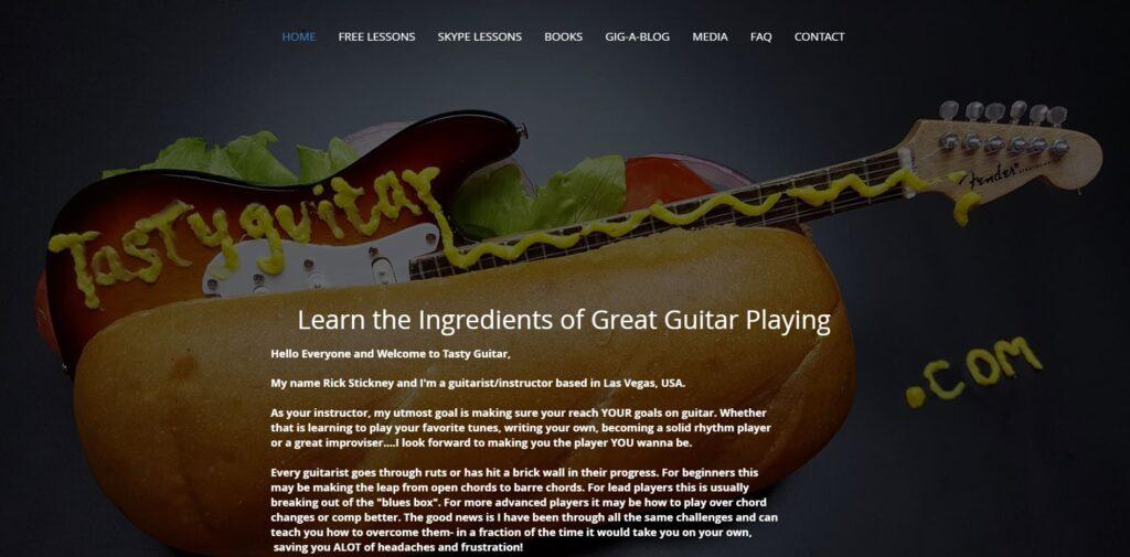 tastygutar website portfolio project