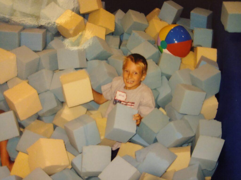 Fitfox marketing owner as child in gymnastics gym