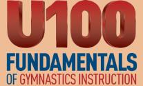 U100 Fundamentals of gymnastics instructions certification